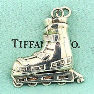 Rollerblade Pendant Keychain Sterling Silver